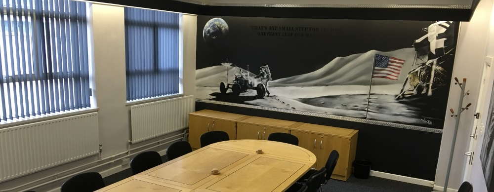 ALL INCLUSIVE – Conference Room with a space mural that has the WOW factor!!